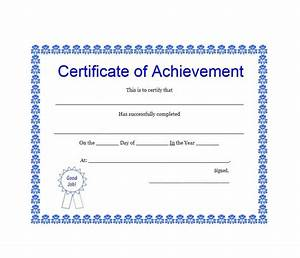 40 great certificate of achievement templates free With template for a certificate of achievement