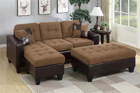 Sectional Sofa Ottoman Microfiber Sectional Sofa With