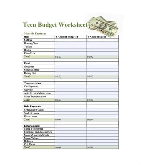 Budget Spreadsheet Template  3 Free Excel Documents Download  Free & Premium Templates