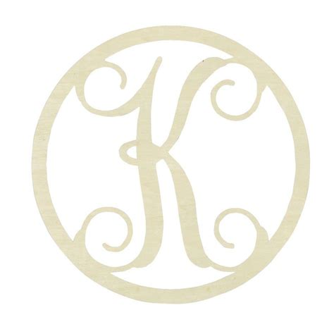 jeff mcwilliams designs 19 in unfinished single circle monogram k 300464 the home depot