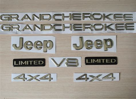 jeep cherokee logo jeep grand cherokee jeep 4x4 limited emblem badge logo