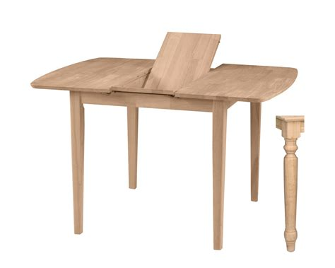 36 X 48 Dining Table With Leaf by Unfinished Shaker Butterfly Leaf Table Wwt3636xbt T336t