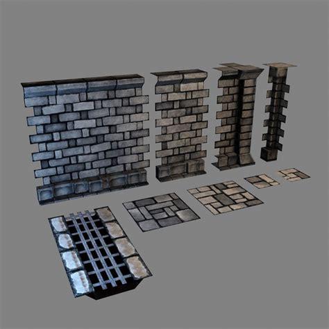 3d dungeon tiles uk set modular dungeons walls max 3d modular enviro