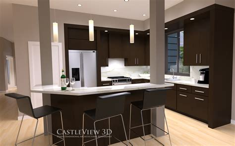 Kitchen Architectural Renderings From Castleview3dcom
