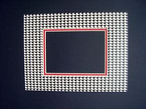5x7 Photo Mats - picture frame mat 9x12 for 5x7 photo houndstooth