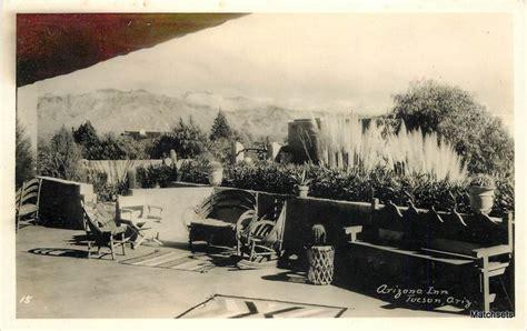1940s tucson az rppc arizona inn patio southwest patio