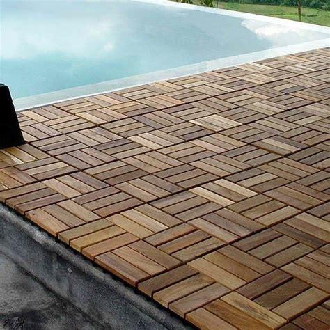 Holzoptik Fliesen Terrasse by Wood Teak Flooring Interlocking Deck Tiles Pool Patio