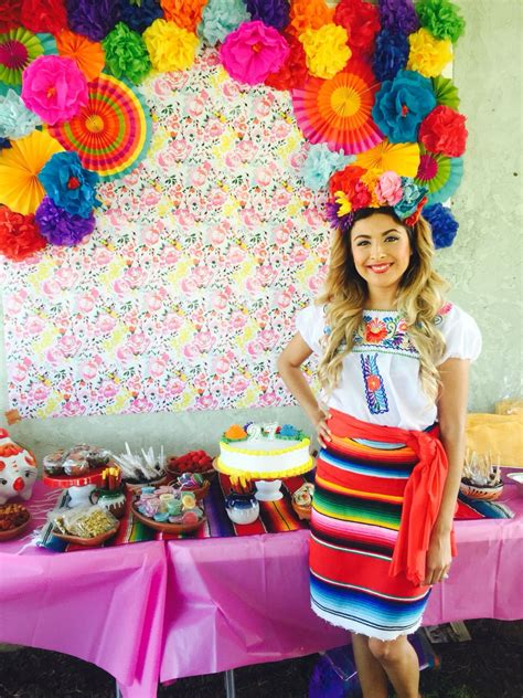 Flower Backdrop Mexican Theme Fiesta Mexican Theme Outfit