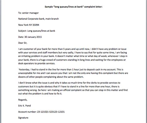 complaint letter to the bank template bank letters smart letters