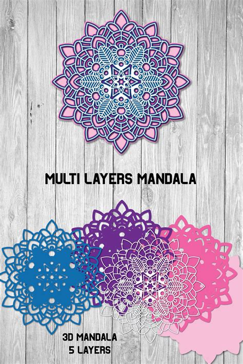 Some of these designs might be intricate, and clean cutting is determined by a multitude of factors, such as blade/mat/cutter, since i cannot foresee these factors, it's up to you to decide what your cutter can handle. 3d Mandala, Multi Layer SVG, Cut File