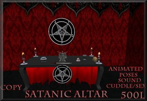 Second Life Marketplace   Satanic Altar