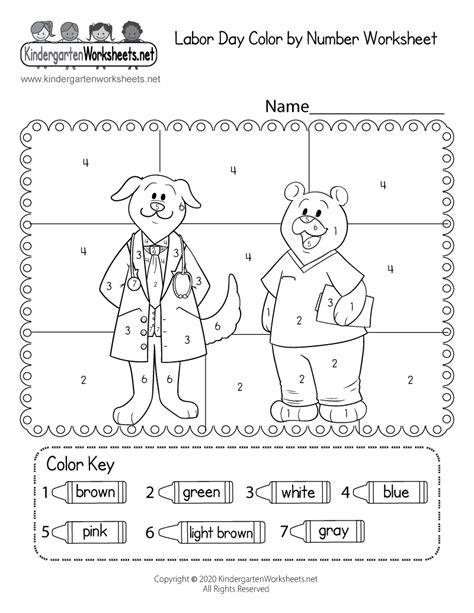 labor day coloring worksheet  kindergarten holiday
