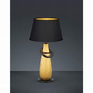 Abat Jour Lampe : thebes lampe de table noire et or 1l e14 ~ Teatrodelosmanantiales.com Idées de Décoration