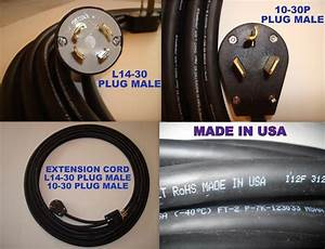 Extension Cord 25 Feet 250 V L14