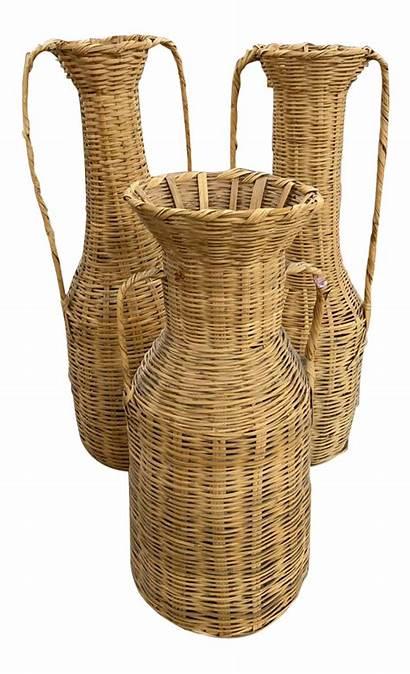 Floor Wicker Tall Vases Baskets Vase Decorating