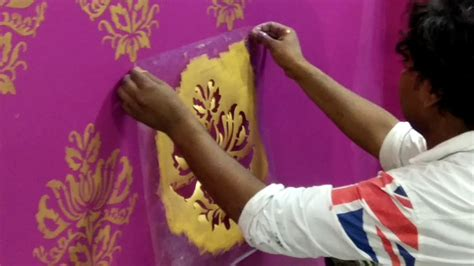 apply asian paints royal play stencil youtube