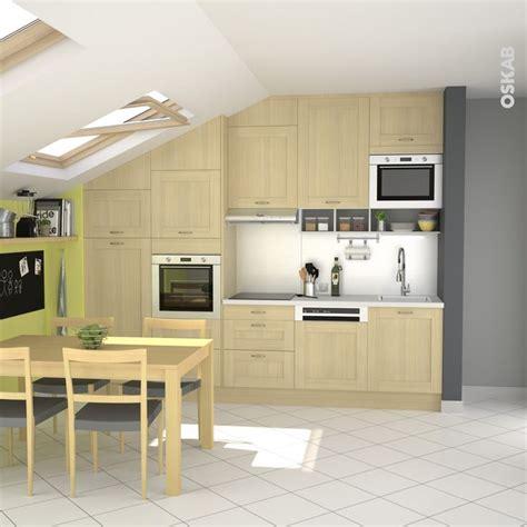 cuisine familiale rapide cuisine bois verni rustique modèle basilit bois verni