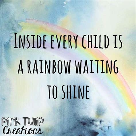 child   rainbow waiting  shine