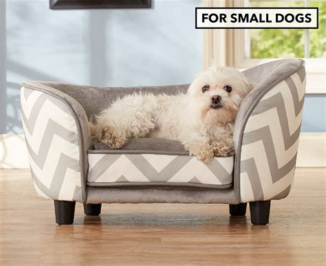 Chaise Lounge For Dogs by Enchanted Home Chaise Lounge Pet Bed For Small Dogs Grey