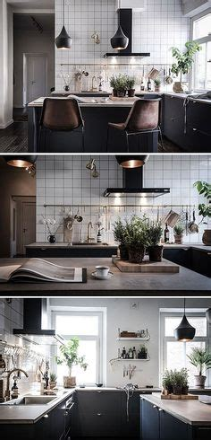 modern kitchens cabinets cozy home with a brick wall via cocolapinedesign 4230