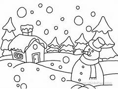 winter coloring pages ...