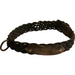 Victorian English Leather and Steel Dog Collar - Unusual ...