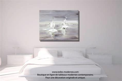 couleur peinture chambre à coucher tableau gris voyage en mer grand format rectangle