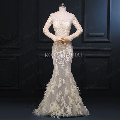 Champagne Evening Dress, Mermaid Evening Dress With