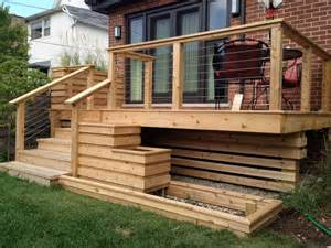 Cable Deck Railing with Cedar
