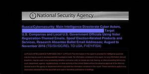 NSA Report on Russian Hacking of U.S. Election