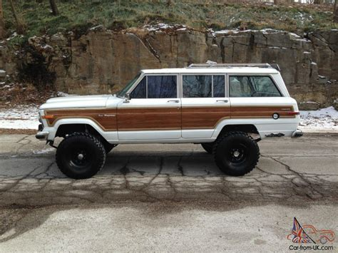 wagoneer jeep lifted jeep grand wagoneer 4x4 rebuilt motor super clean 6 quot lift