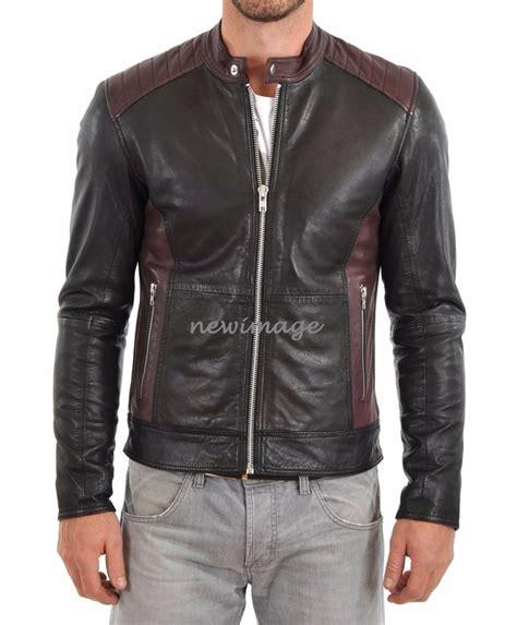 motorcycle style leather jacket new leather jacket mens motorcycle biker style jacket