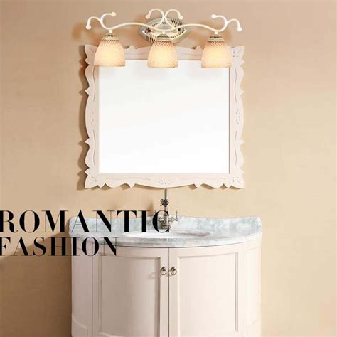 led vintage wall ls wrought iron mirror lights modern bathroom makeup mount light wall sconce