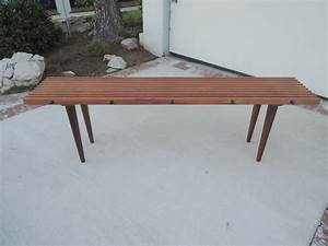 Furniture mid century modern long narrow wood coffee for Long outdoor coffee table