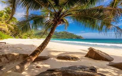 Desktop Beach Landscape Wallpapers Coconut Tropical Island
