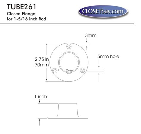 closed flange for 1 5 16 quot diameter rod polished brass