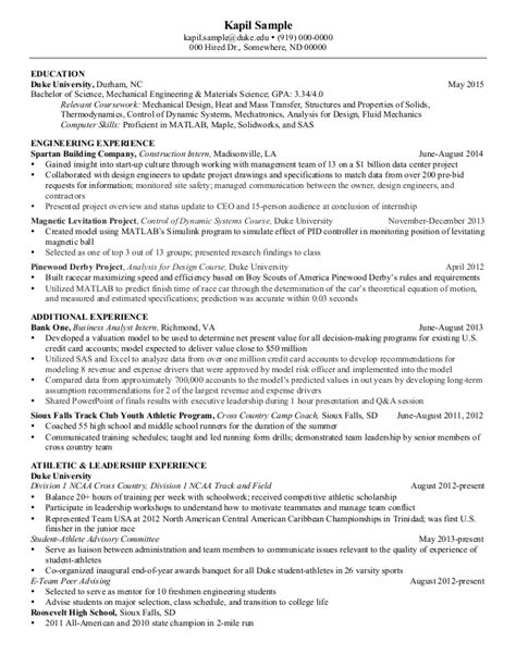 28 resume sle for mechanical engineer automotive sle mechanical engineering resume 28 images sle