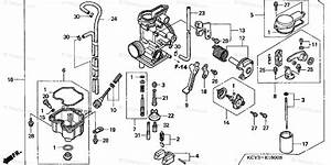 Honda Motorcycle 2003 Oem Parts Diagram For Carburetor