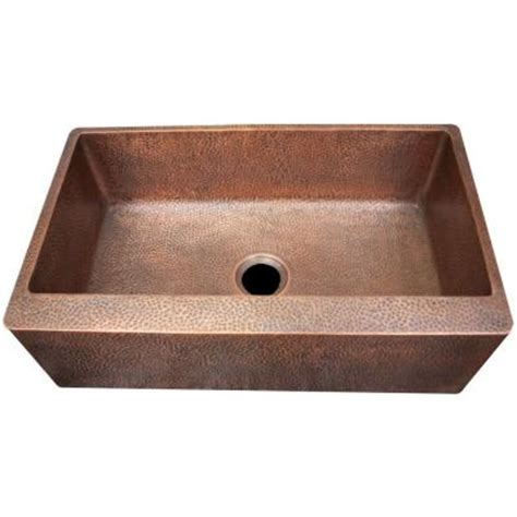 Copper Apron Front Sink Home Depot by Imperial Farmhouse Apron Front Hammered Copper 33 In
