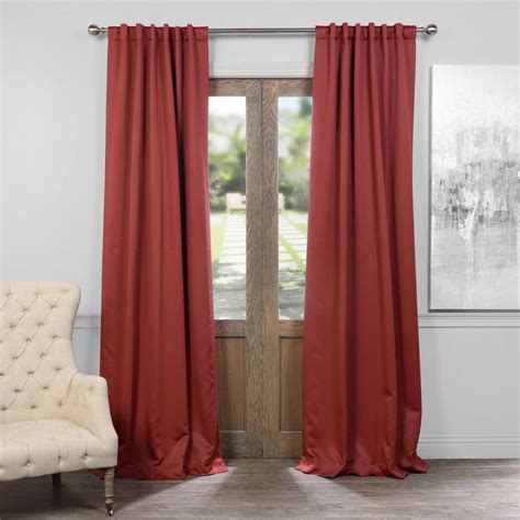Exclusive Fabrics & Furnishings Brick Red Blackout Curtain