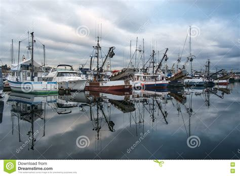 Fishing Boats Seattle by Commercial Fishing Boats And Ballard Bridge Editorial