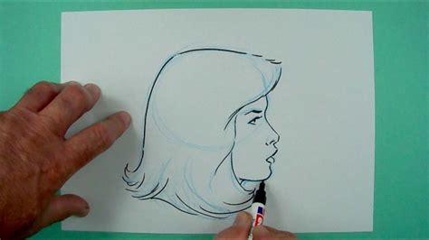 wie zeichnet man einen frauenkopf von der seite zeichnen