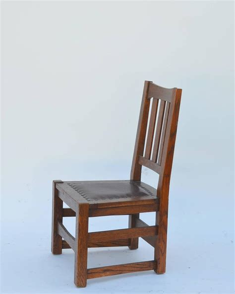 original mission style arts and crafts oak chair by