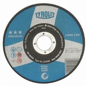Disque A Tronconner : disques tron onner gamme technique premium tyrolit ~ Dallasstarsshop.com Idées de Décoration