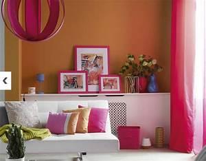 Décoration De Salon : 5 d co salon salle a manger aux couleurs vitamin es ~ Nature-et-papiers.com Idées de Décoration