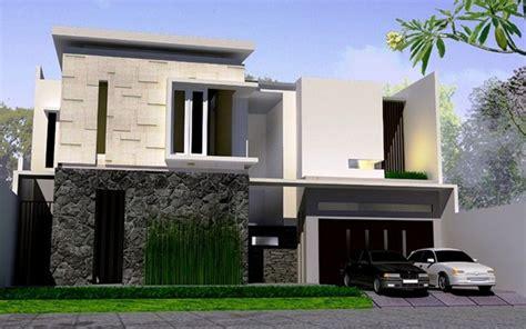 denah dan desain rumah minimalis modern 1 dan 2 lantai
