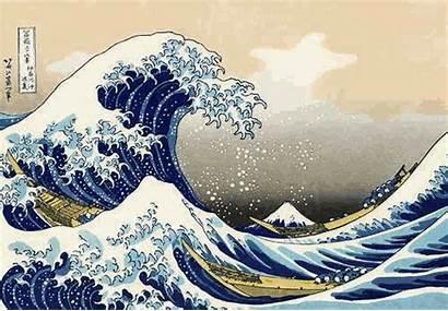 Japanese Wave Painting Hokusai Fuji