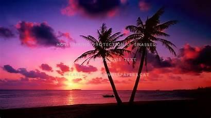 Colorful Sunset Ocean Tropical Sky