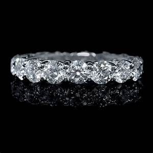 326ct diamond platinum eternity wedding band ring With eternity wedding rings
