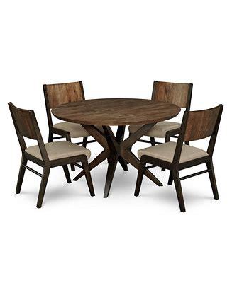 Ashton Round Pedestal Dining Furniture 5 Pc Set Round